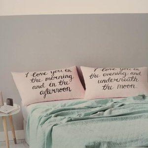 ADAIRS Home Republic Love Cotton Pillowcases NWT